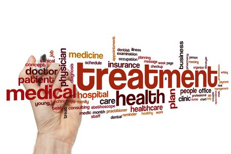 Treatment word cloud concept Stock Photo - 129415582