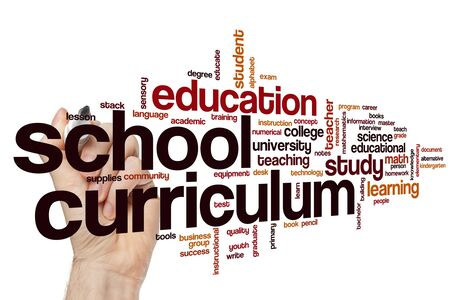 School curriculum word cloud concept