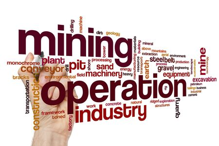 Mining operation word cloud concept