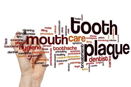 Tooth plaque word cloud concept 写真素材