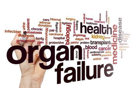 Organ failure word cloud concept