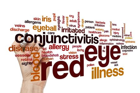 Red eye word cloud concept