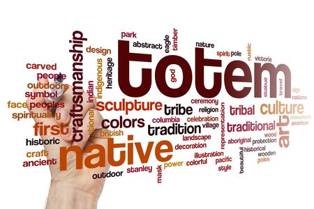 Totem word cloud concept