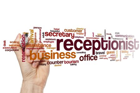 Receptionist word cloud concept
