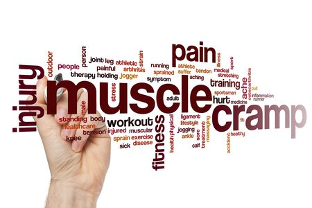 Muscle cramp word cloud concept Stock Photo - 129416325