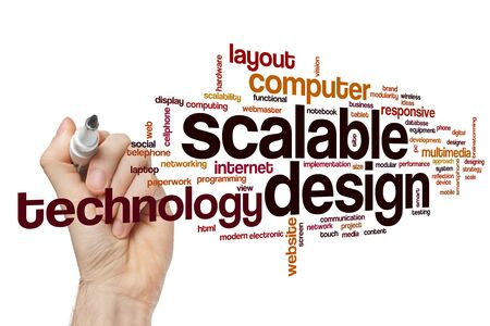 Scalable design word cloud concept