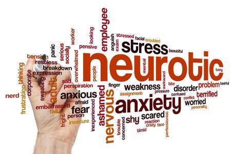 Neurotic word cloud concept Foto de archivo