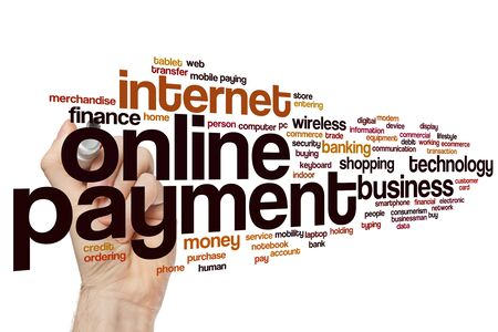 Online payment word cloud concept
