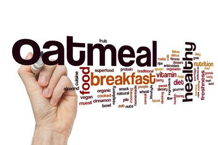 Oatmeal word cloud concept Stockfoto