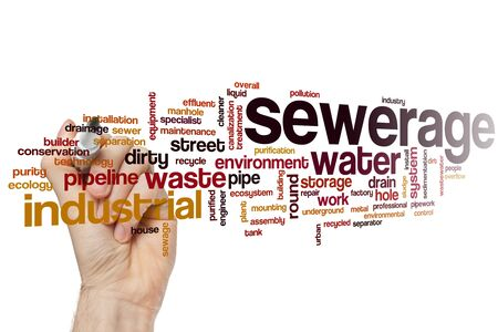 Sewerage word cloud concept