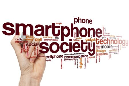 Smartphone society word cloud concept