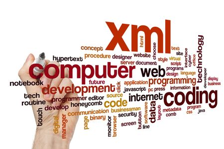 XML word cloud concept