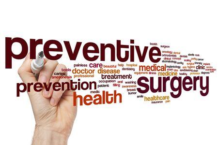 Preventive surgery word cloud concept