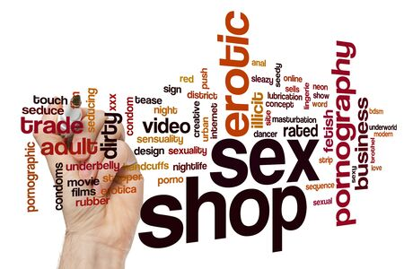 Sex shop word cloud concept