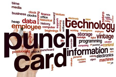 Concepto de nube de word de tarjeta perforada Foto de archivo