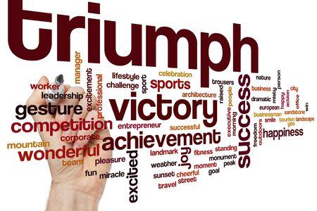 Triumph word cloud concept