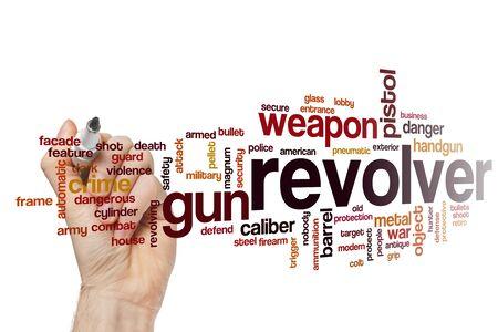 Revolver word cloud concept