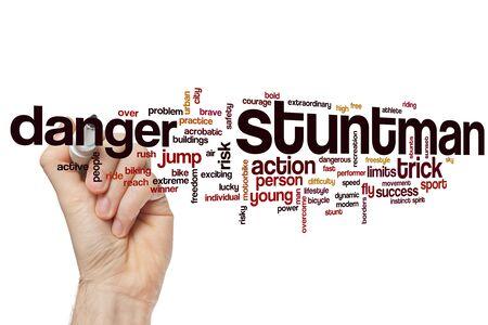 Stuntman word cloud concept