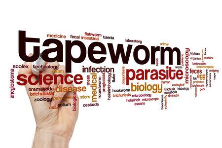 Tapeworm word cloud concept