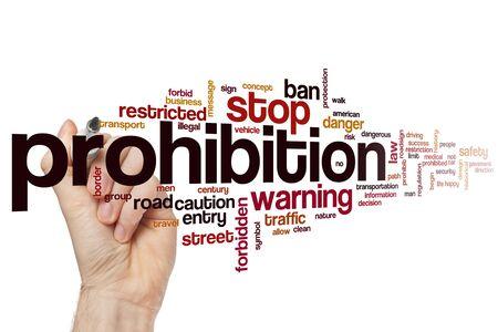 Prohibition word cloud concept