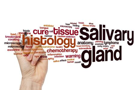 Salivary gland word cloud concept