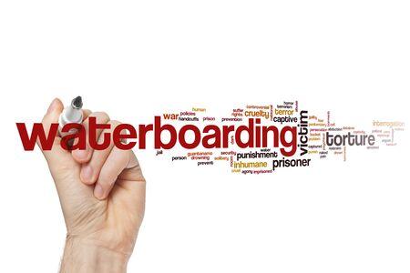 Waterboarding word cloud concept