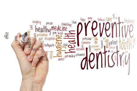 Preventive dentistry word cloud concept Stock Photo - 129451563