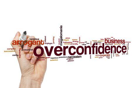 Overconfidence word cloud concept