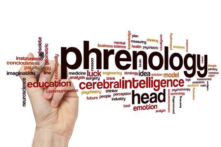Phrenology word cloud concept Stock Photo