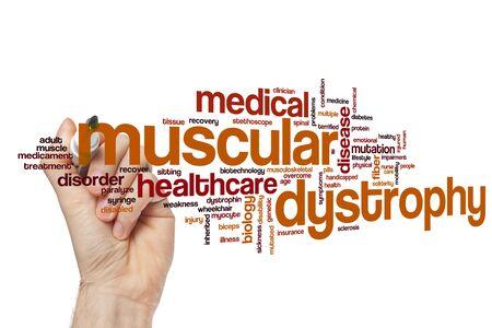Concept de nuage de mot de la dystrophie musculaire