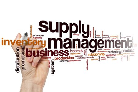 Supply management word cloud concept