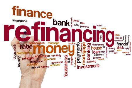 Refinanzierungswortwolkenkonzept