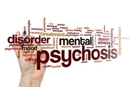 Concepto de nube de word de psicosis