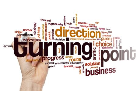 Turning point word cloud concept