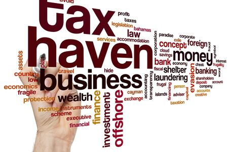 Tax haven word cloud concept