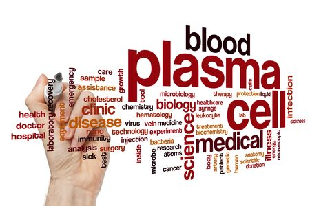 Plasma cell word cloud concept