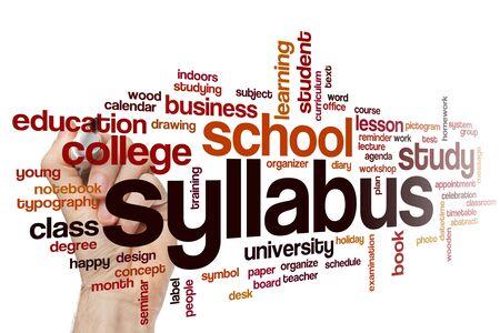 Syllabus word cloud concept