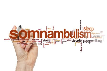 Somnabulism word cloud concept