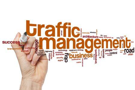 Traffic management word cloud concept