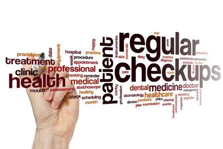 Regular checkups word cloud concept