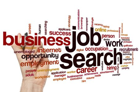 Job search word cloud concept Stock Photo - 129451967