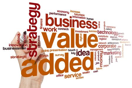 Value added word cloud concept