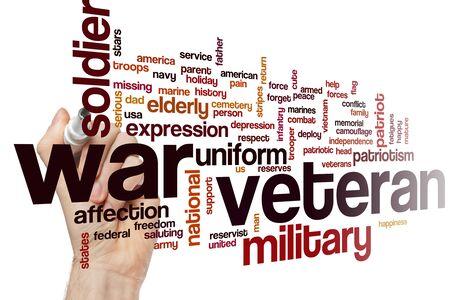 War veteran word cloud concept
