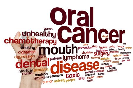 Oral cancer word cloud concept 版權商用圖片