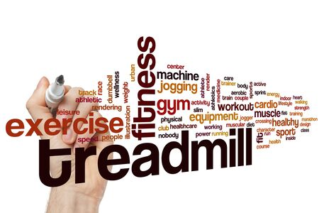 Treadmill word cloud concept Stock Photo