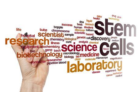 Stem cells word cloud concept Stok Fotoğraf
