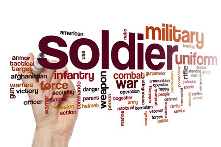 Soldier word cloud concept 写真素材