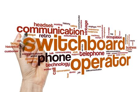 Switchboard operator word cloud concept