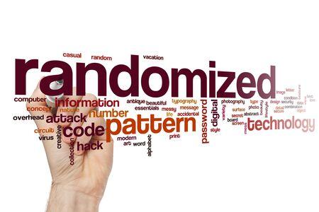 Randomized word cloud concept