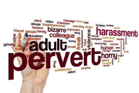 Pervert word cloud concept